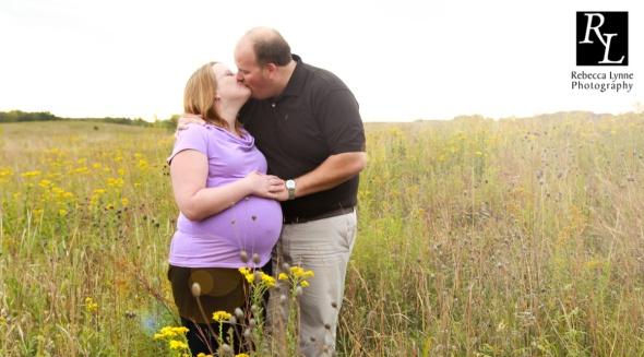 Maternity in wildflowers