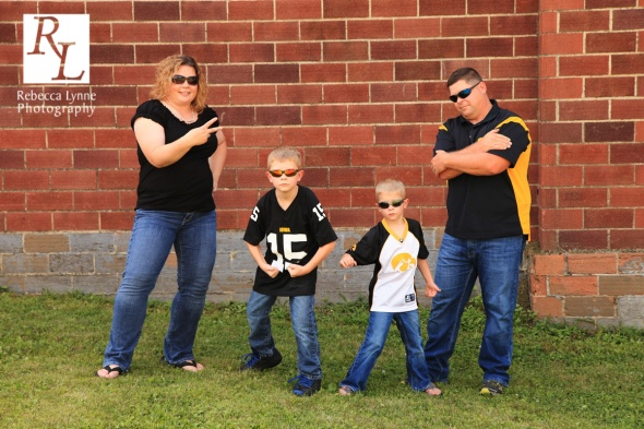 Cool Hawkeye Family Photo