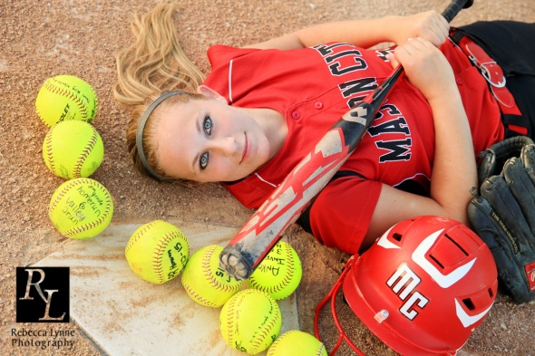 home run balls senior portrait