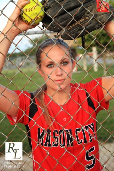 softball high school senior portrait