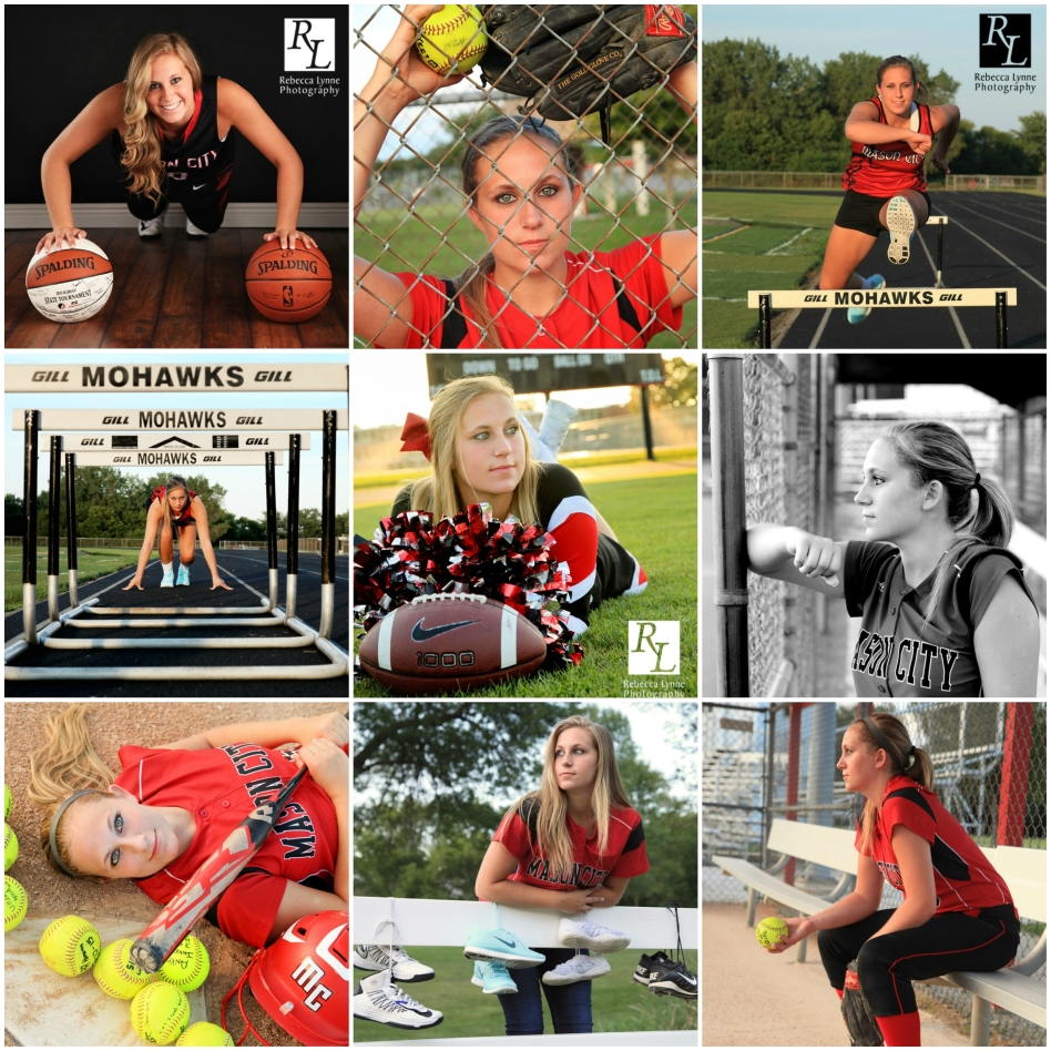 Girl Sports Softball Track Hurdles Cheerleading