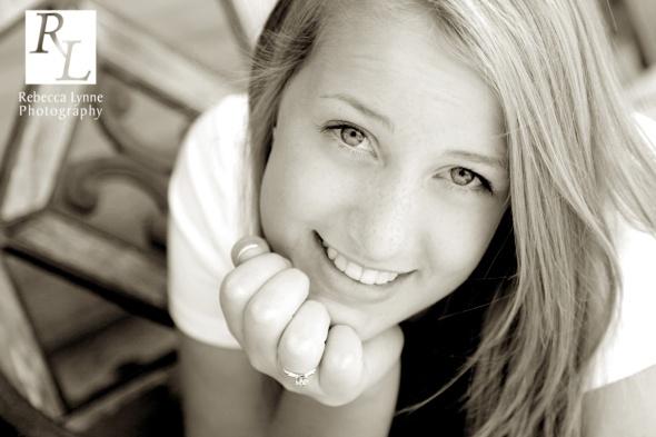 Cute High School Senior Girl