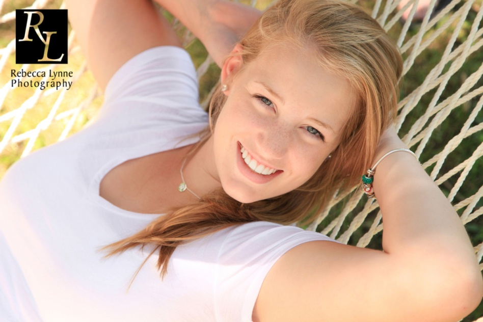High School Senior Girl in Hammock