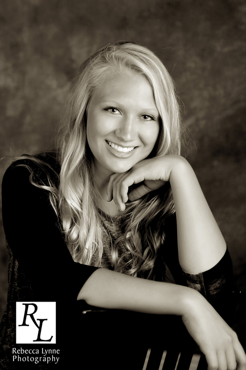 Senior girl high school portrait