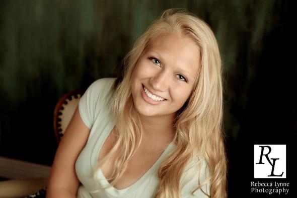 Senior girl high school portrait