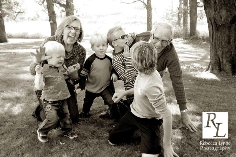 Grandma & Grandpa play with kids