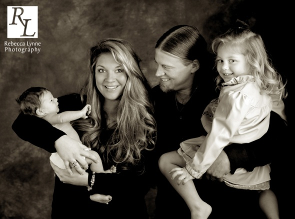 Newborn boy family portraits
