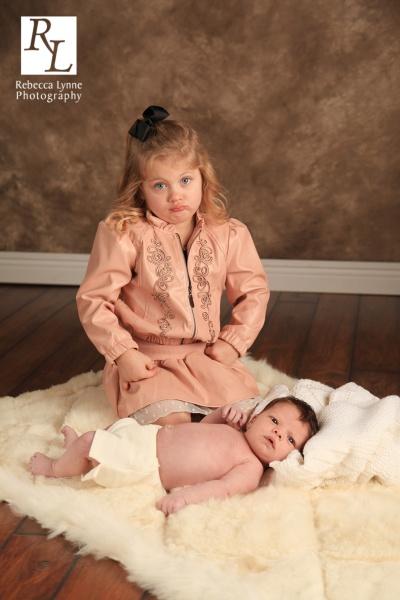 Newborn boy sibling portraits