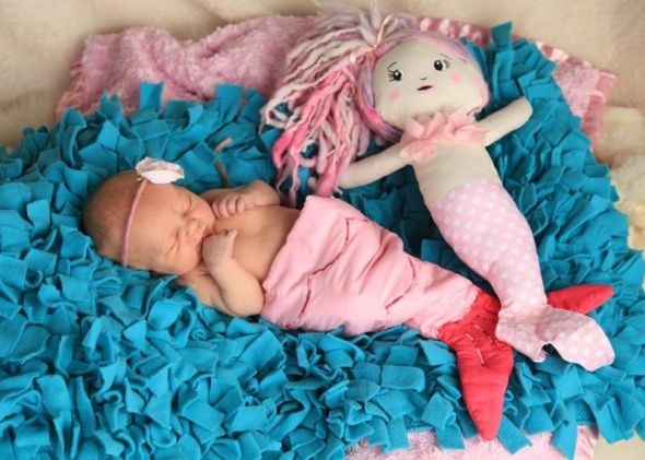 newborn girl mermaid