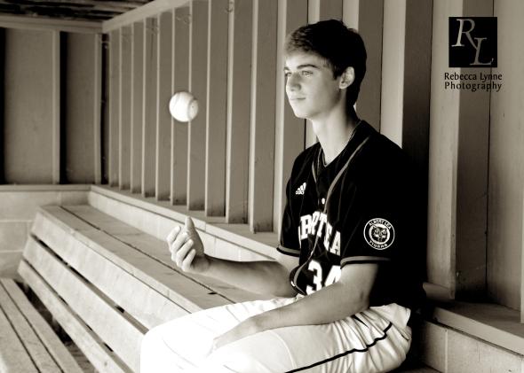 High School Senior Guy baseball