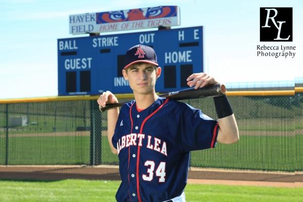 High School Senior Guy baseball scoreboard